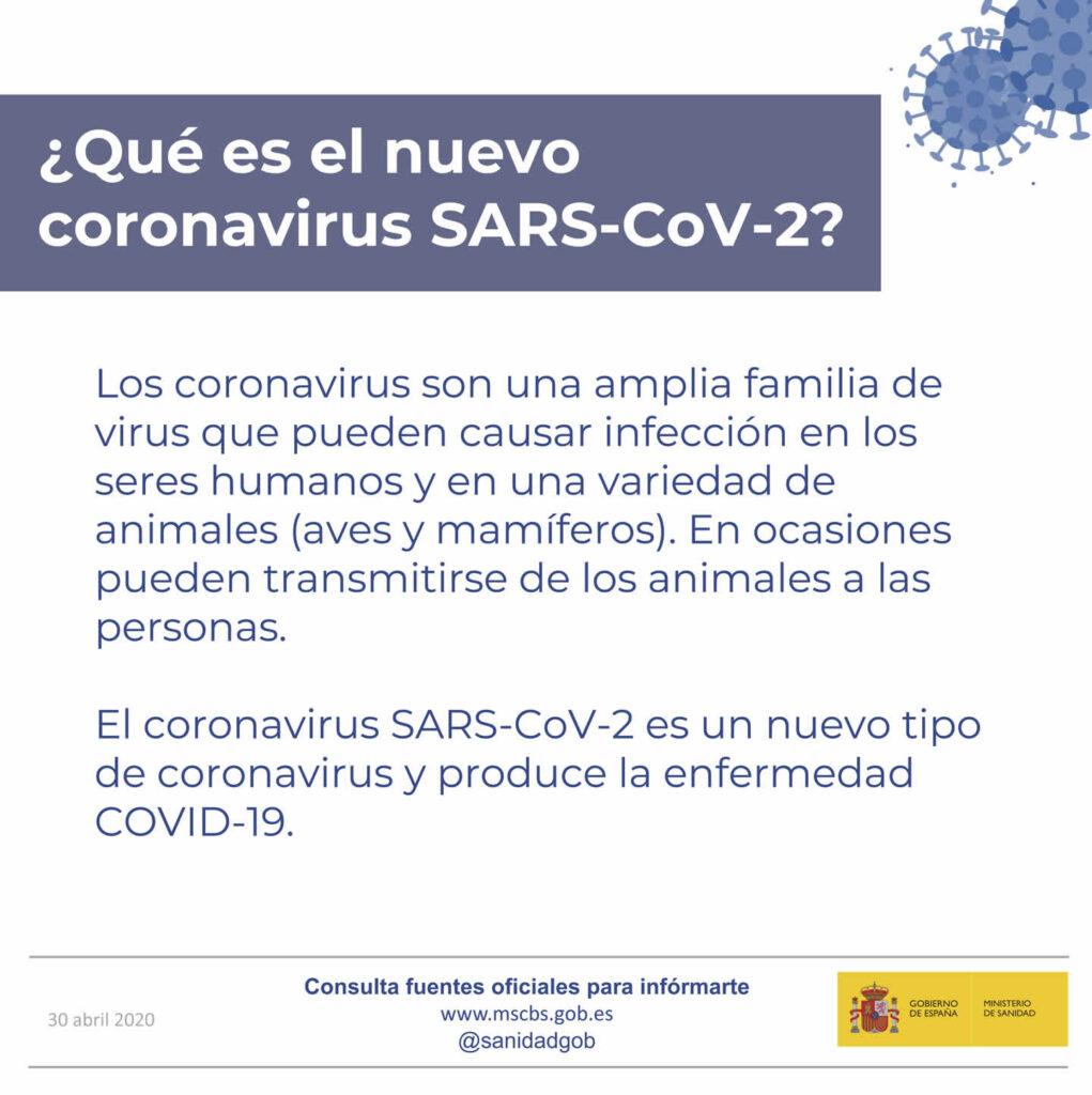 Infografia ministerio qué es el coronavirus
