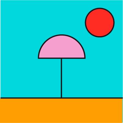 Ilustración Piscinas y playas