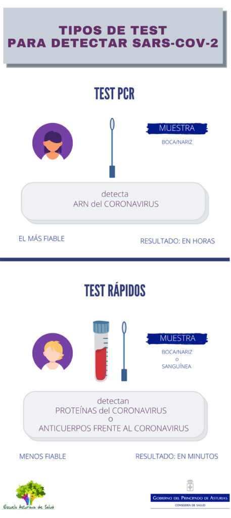 Infografía Tipos de test
